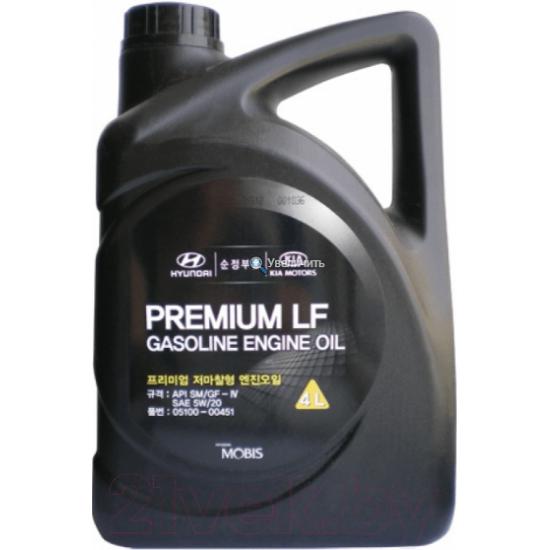 HYUNDAI-KIA PREMIUM LF GASOLINE ENGINE OIL 5W-20 4L